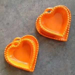 Ramekins Williams Sonoma Orange Ramakins & Plates